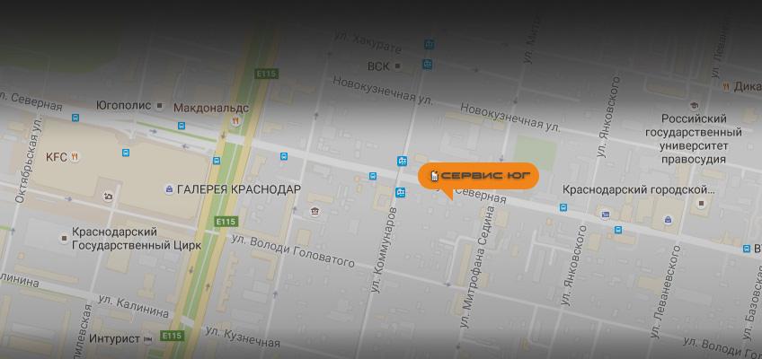 Карта Краснодар